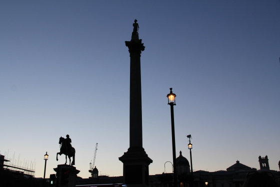 Silhouette at Trafalgar Square